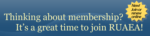Renew your membership or join RUAEA today online